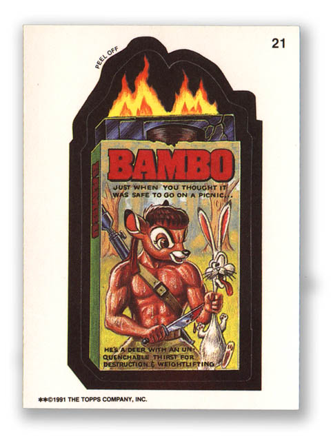 Wacky Packages Topps 1991 Series Bambo