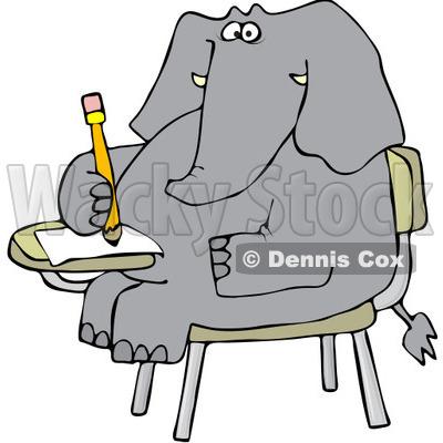RoyaltyFree Vector Clip Art Illustration of an Elephant