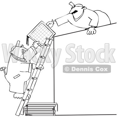 Royalty-Free Vector Clip Art Illustration of a Black And