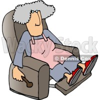 Housewife Relaxing On a Comfortable Recliner Chair Clipart ...