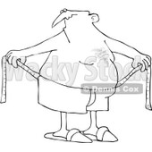 Royalty-Free (RF) Clipart Illustration of a Chubby Man