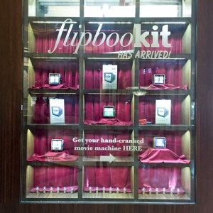 FlipBooKit window display