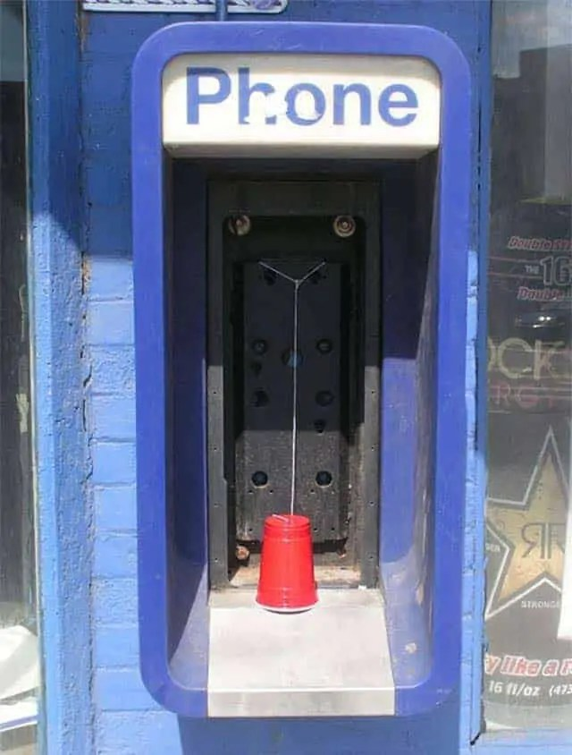 Funny Phone Booth From Where You Can Make Free Calls