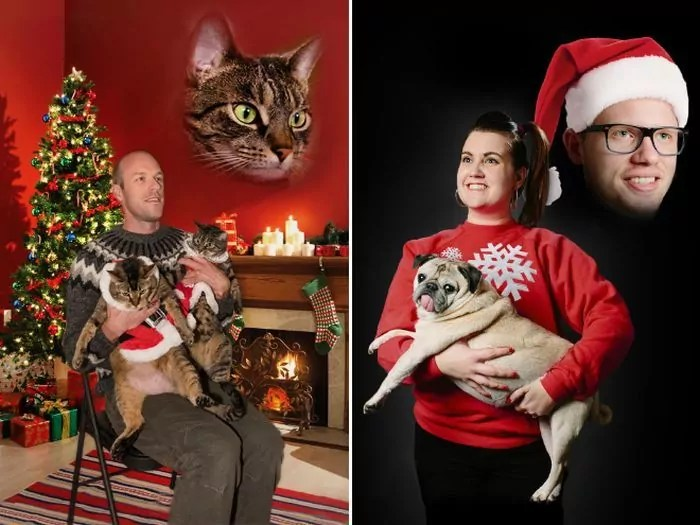 20 Hilarious Christmas Portraits With Pets That Will Make Your Day -10