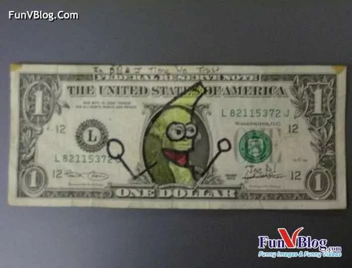 11 Mind-blowing Funny Paintings on US Dollar Bill -20