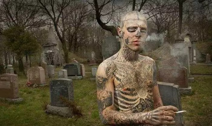 Zombie Boy Rick Genest : Full Body Covered With Tattoo-04