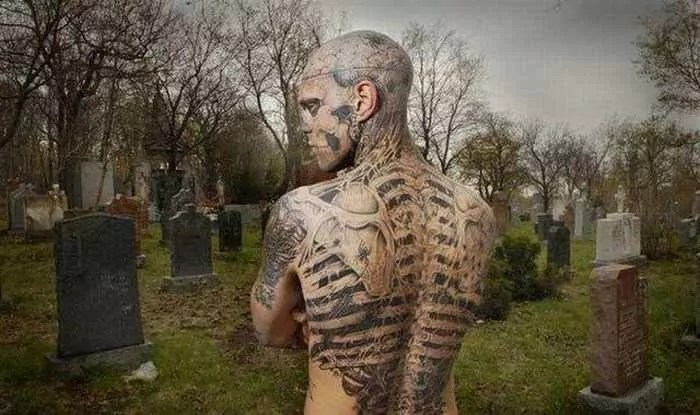 Zombie Boy Rick Genest : Full Body Covered With Tattoo-05