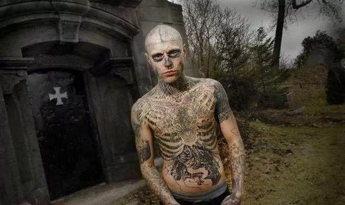 Zombie Boy Rick Genest : Full Body Covered With Tattoo-16