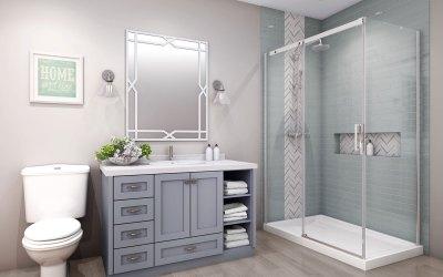 Frameless sliding glass shower doors