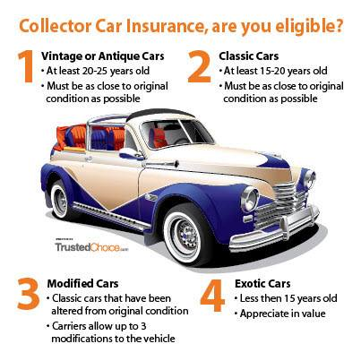 Vintage Antique Classic Exotic Collector Cars infographic