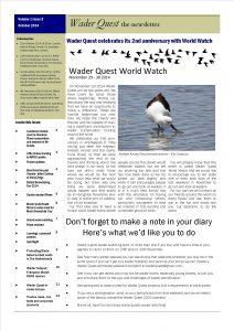 Wader Quest Newsletter - October 2014