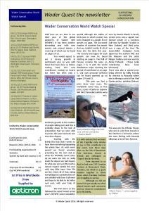 WCWW 2016 Newsletter - Special Edition