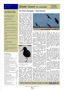 Wader Quest newsletter - January 2018