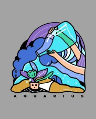 AQUARIUS HOROSCOPE SERIES 2018 TEE FRONT
