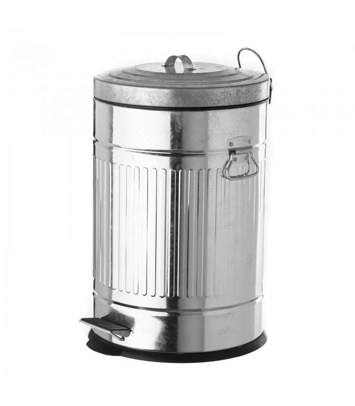 poubelle de cuisine retro en metal