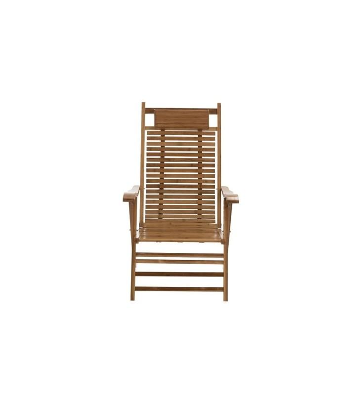 chaise longue pliante chilienne en bois