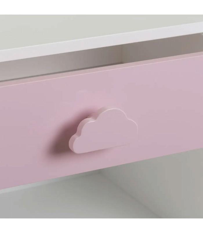 kid wooden bedside table pink