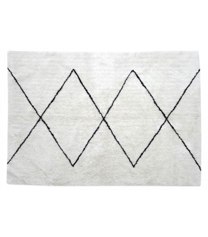 tapis style tapis berbere coton noir et