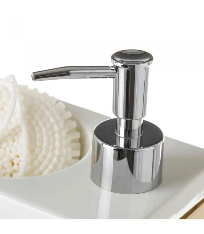 distributeur de savon avec porte eponge