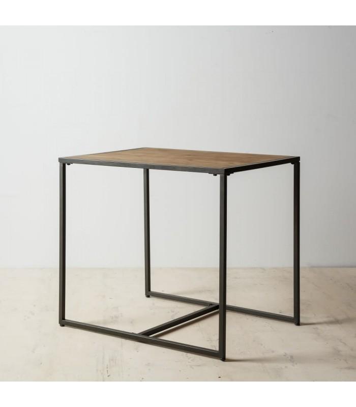 table salle a manger en bois et metal 2