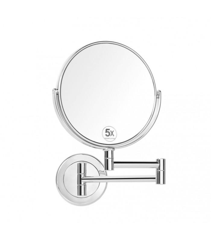 Miroir Grossissant Double Face Rond X5 Sur Bras Extensible
