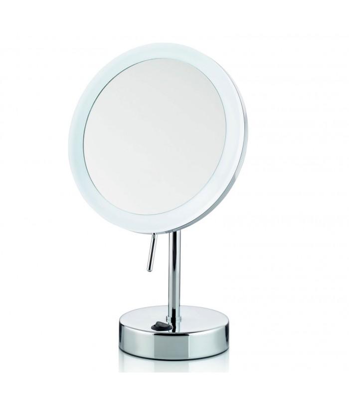 Miroir Grossissant X 5 Lumineux Led Rond Sur Pied Orientable Wadiga Com