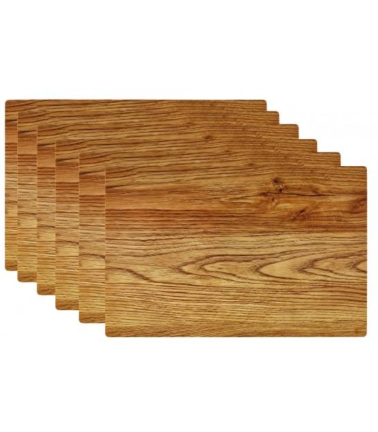 Set De Table Design Bois Clair En Vinyle Set De 6