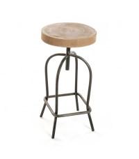 Metal and Wood Bar Stool - Wadiga.com
