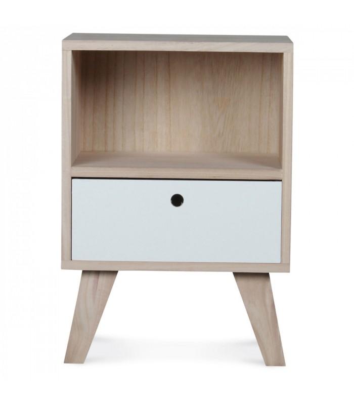 design wooden nightstand height 50cm