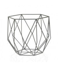 Geometric Metal Fruit Basket