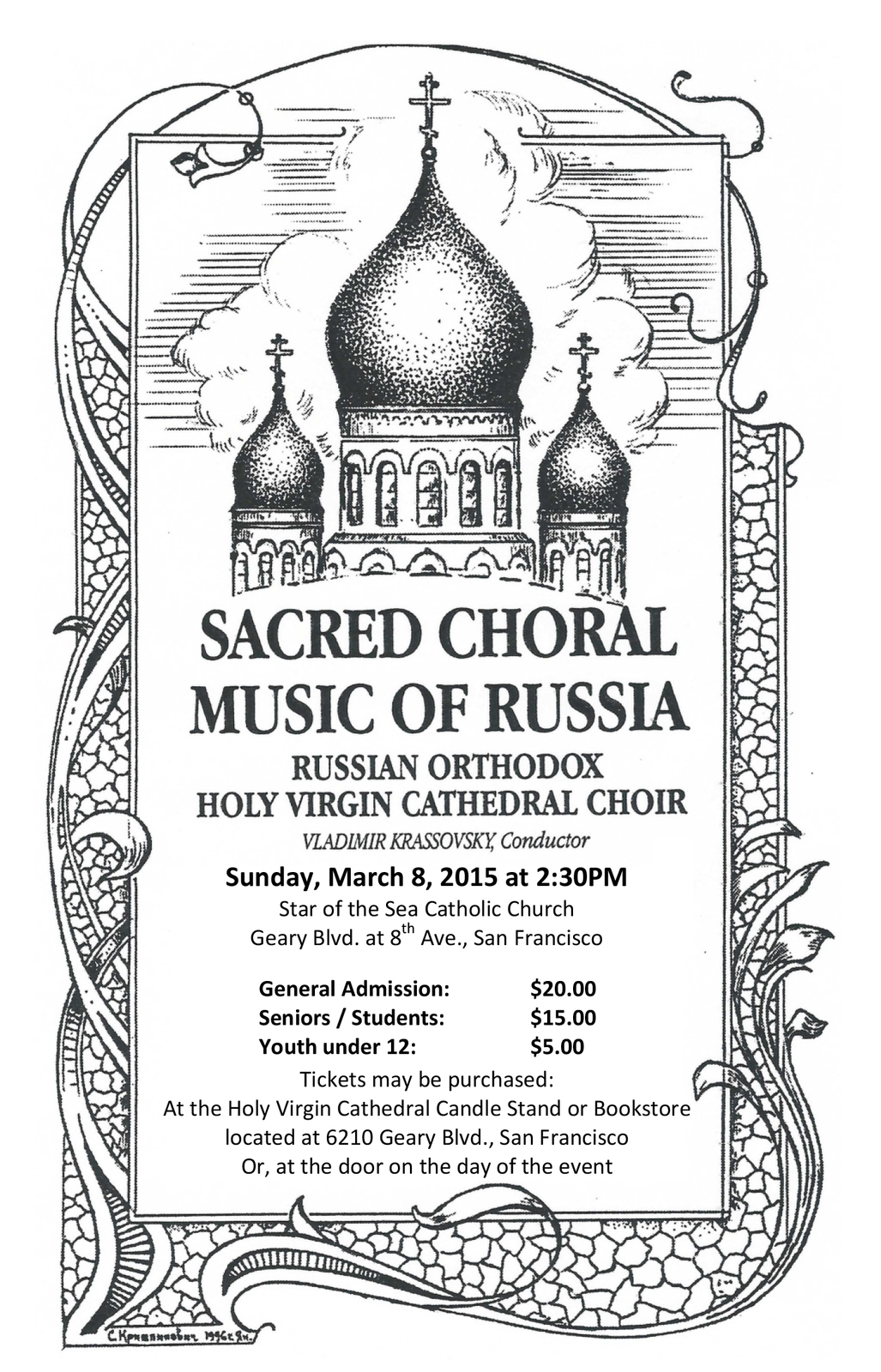 Concert of Sacred Russian Orthodox Music To Take Place in