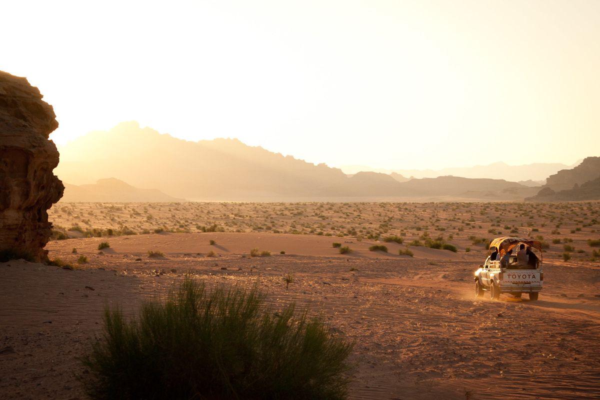 Jeep Tour of Wadi Rum. Sunset tour in Wadi Rum