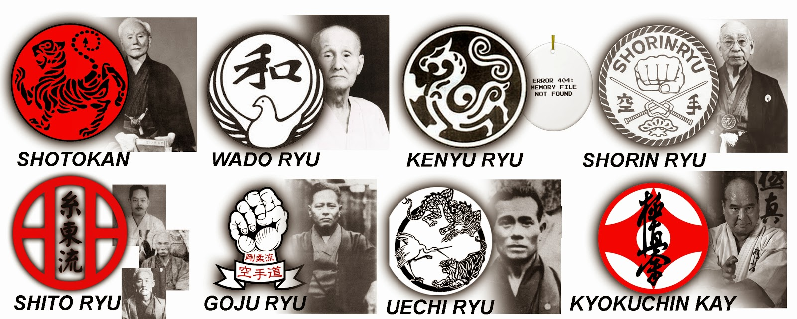 Some Karate styles