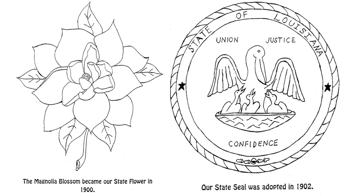 Kids can learn state symbols with these printable coloring