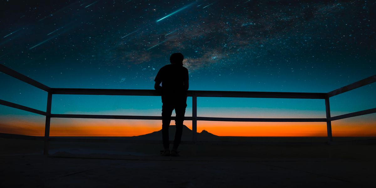 meteor showers and black