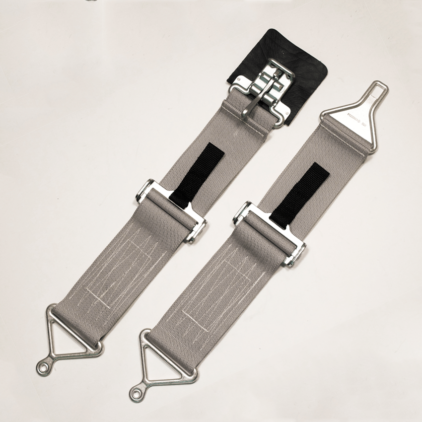 military style seat belt silver gray tso d