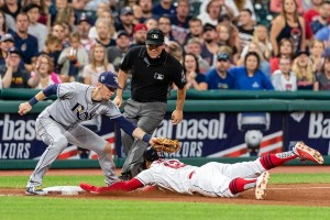 The Rays and Indians are fighting it out for the final AL Wild Card