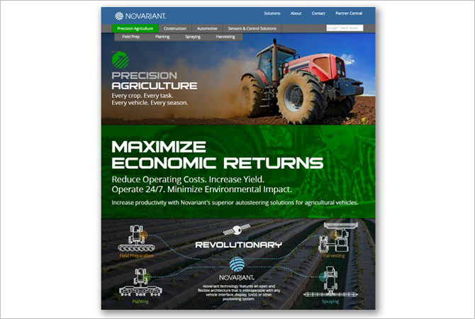 Novariant Precision Agriculture Webpage