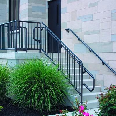 Aluminum Handrail Railing Systems Wagner Architectural | Aluminum Railings For Steps | Verandah | Glass Railing | Pipe | Indoor | Glass Panel Wooden Handrail