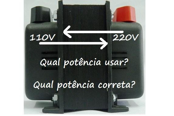 Transformador 220 para 110v ou mesmo 110 para 220 qual usar - Transformador 220 a 110 ...