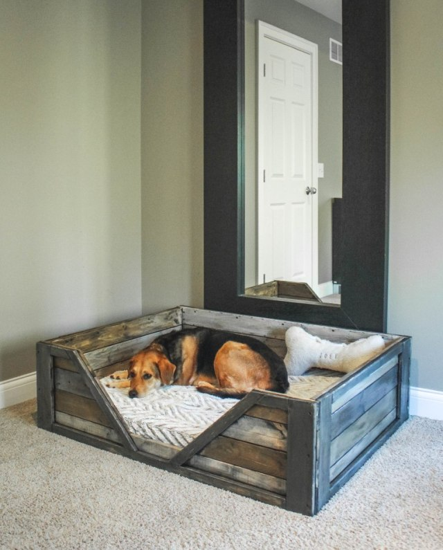 DIY dog bed ready