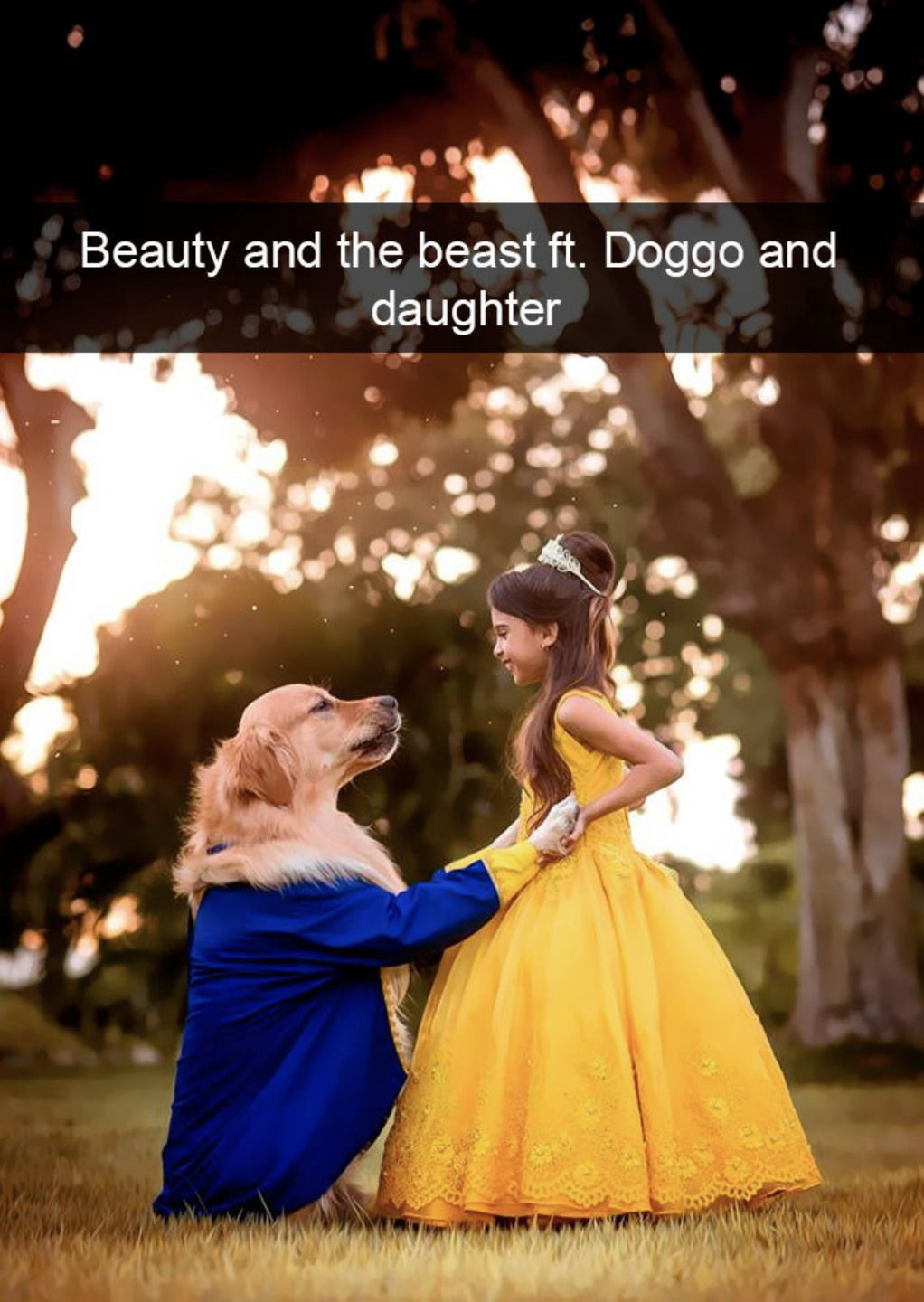 Beauty and the beast ft. Doggo and daughter.