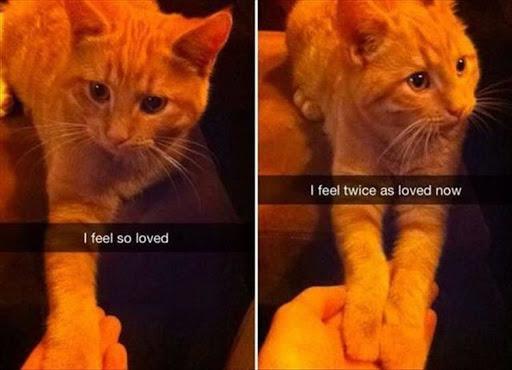 I feel so loved. I feel twice as loved now.