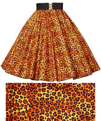 Leopard Print  Circle Skirt