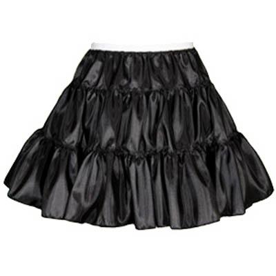 Childs 3 Tier Taffeta Petticoat in White or Black
