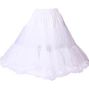 835 Chiffon Petticoat in White, Black or Red