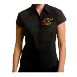 Ladies Rock n Roll Embroidered Blouses From