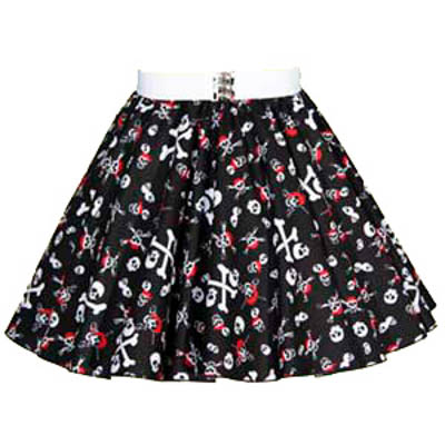 Childs Skull & Crossbones Print  Skirt