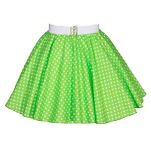 "Sale – 14 "" Lime Green / White Polkadot  Circle Skirt (XXSmall)"