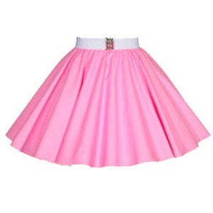 Childs Plain Sugar Pink Circle Skirt
